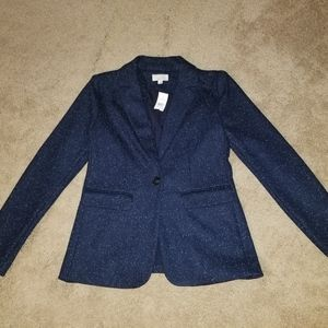 LOFT Speckled Modern Knit Blazer